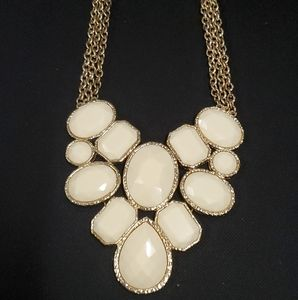 White Statement Necklace
